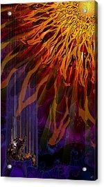 Descent Of Icarus Acrylic Print