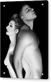 Desdemona And Othello - Engaged And Entwined Acrylic Print