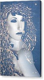 Desdemona Blue - Self Portrait Acrylic Print