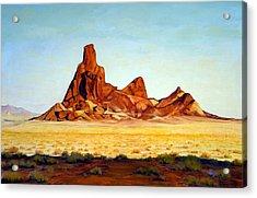 Desert Buttes Acrylic Print by Evelyne Boynton Grierson