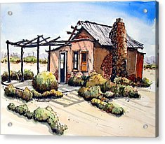 Desert Cabin Acrylic Print by Terry Banderas