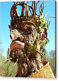 Desert Cactus Man Acrylic Print