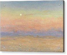 Desert Caravan Acrylic Print by William James Laidlay