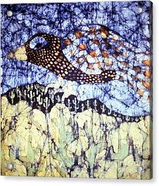 Desert Crow Acrylic Print by Carol Law Conklin