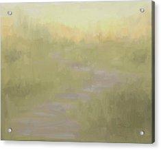 Desert Dawn Sagebrush Nature Trail Abstract Acrylic Print