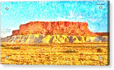 Desert Deck - Da Acrylic Print by Leonardo Digenio