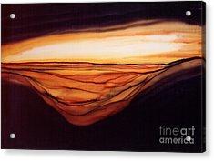 Desert Glow Acrylic Print by Addie Hocynec