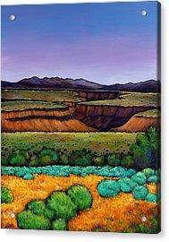 Desert Gorge Acrylic Print