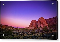 Desert Grape Rock Acrylic Print