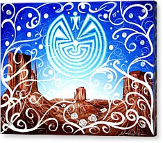 Acrylic Print featuring the painting Desert Hallucinogens by Michelle Dallocchio