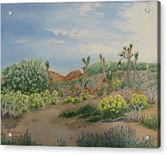 Desert In Bloom Acrylic Print by Joan Taylor-Sullivant