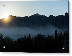Desert Inversion Sunrise Acrylic Print