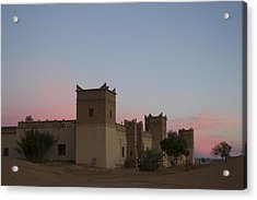Acrylic Print featuring the tapestry - textile Desert Kasbah Morocco by Kathy Adams Clark