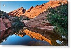 Desert Mirror Acrylic Print