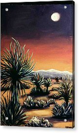 Desert Moon Acrylic Print by Helen O Hara