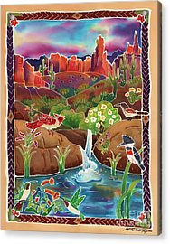 Desert Oasis Acrylic Print by Harriet Peck Taylor