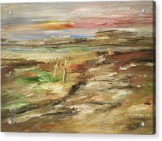 Desert Pass Acrylic Print by Edward Wolverton