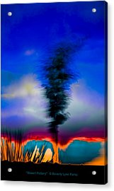 Acrylic Print featuring the photograph Desert Pottery by Beverly Parks