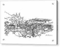 Desert Residence Acrylic Print by Andrew Drozdowicz