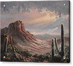 Desert Rim Acrylic Print by Benjamin DeHart