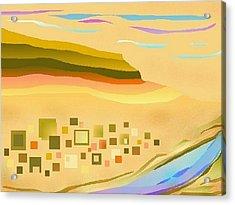 Desert River Acrylic Print