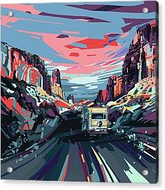 Desert Road Landscape Acrylic Print