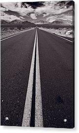 Desert Road Trip B W Acrylic Print
