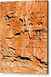 Desert Rock Acrylic Print by Rae Tucker