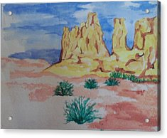 Acrylic Print featuring the painting Desert Sky by Erika Chamberlin