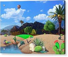 Desert Splendor Acrylic Print by Snake Jagger