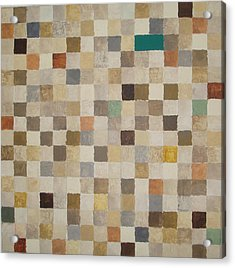 Desert Squares Acrylic Print by Wendy Peat