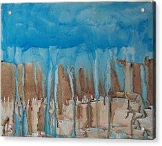 Desert Storm Acrylic Print by Larry Verch