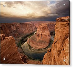 Desert Sunrise At Horseshoe Bend Acrylic Print by Matt Tilghman