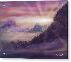 Acrylic Print featuring the digital art Desert Sunrise by Barry Jones