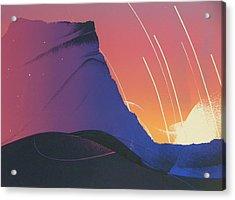 Desert Sunrise Acrylic Print by Gary Kaemmer
