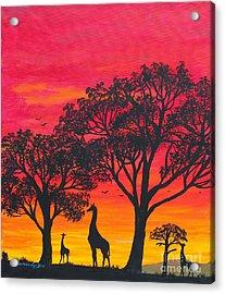 Desert Sunset 2 Acrylic Print by Barbara Griffin
