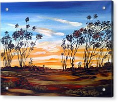 Acrylic Print featuring the painting Desert Sunset by Roberto Gagliardi