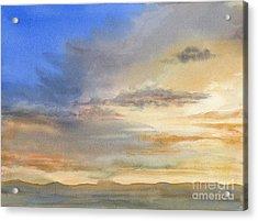 Desert Sunset Acrylic Print by Sharon Freeman