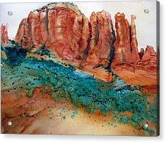 Desert Towers Acrylic Print by Karen Stark