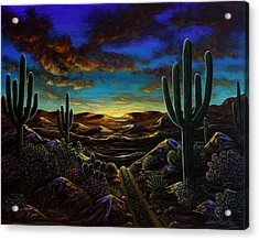 Acrylic Print featuring the painting Desert Trail by Lance Headlee