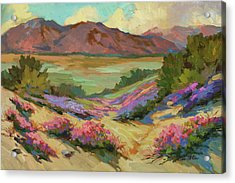 Desert Verbena At Borrego Springs Acrylic Print by Diane McClary