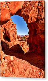 Desert View Acrylic Print by James Marvin Phelps