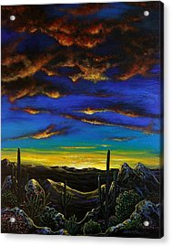 Desert View Acrylic Print by Lance Headlee