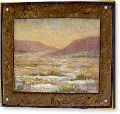 Desert Winter Acrylic Print by Diane and Donelli DiMaria