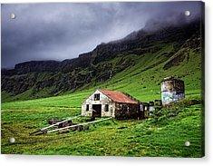 Deserted Barn In Iceland Acrylic Print