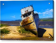 Deserted Beached Boat Acrylic Print