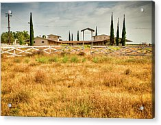 Deserted Horse Stables Acrylic Print by Connie Cooper-Edwards
