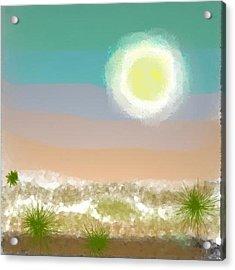 Acrylic Print featuring the digital art Desert.night.moon by Dr Loifer Vladimir