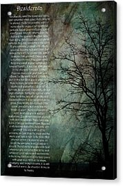 Desiderata Of Happiness - Vintage Art By Jordan Blackstone Acrylic Print