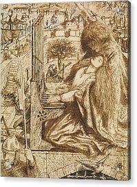Design For Moxon's Tennyson - Saint Cecilia Acrylic Print by Dante Gabriel Rossetti